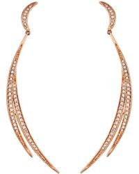 Serena Williams Jewelry Diamond (1/3 Ct. T.w.) Milky Way Drop Earrings In 14k Rose Gold - Pink