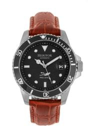 918294adf Heritor - Automatic Lucius Black Dial, Genuine Brown Leather Watch 41mm -  Lyst