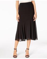 Alex Evenings - Chiffon Midi Skirt, Regular & Petite - Lyst