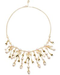 Carolee - Gold-tone Imitation Pearl Statement Necklace - Lyst