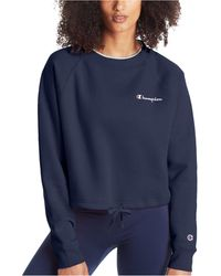 Champion - Campus Cropped Fleece Sweatshirt - Lyst