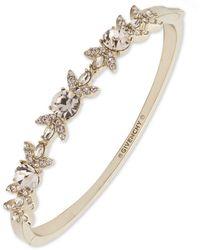 Givenchy Gold-tone Stone & Crystal Bangle Bracelet - Metallic