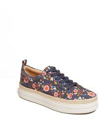 Jack Rogers Mia Floral Platform Sneaker - Blue