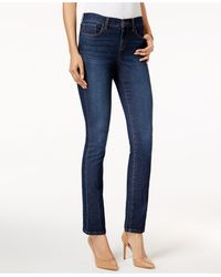 Style & Co. Petite Tummy-control Mid-rise Bootcut Jeans, Created For Macy's - Blue