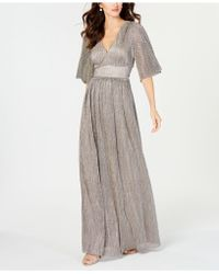 Adrianna Papell - Chainmail-knit Gown - Lyst