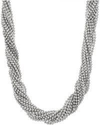 Steve Madden - Beaded Interlock Necklace - Lyst