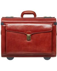Mancini Signature Collection Deluxe Wheeled Catalog Case - Brown