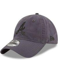 dd0fc316de4 Michael Kors · KTZ - Atlanta Braves Graphite 9twenty Cap - Lyst