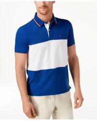 Tommy Hilfiger - Logo Colorblocked Slim Fit Polo - Lyst