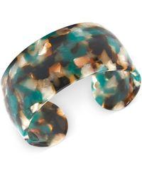 Zenzii Wide Acetate Cuff Bracelet - Multicolour