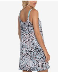 Linea Donatella Zephyr Printed Chemise Nightgown - Natural