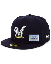 100% authentic lower price with stable quality KTZ Milwaukee Brewers Bred Hookup 9fifty Snapback Cap in Black for ...