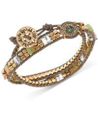 Lonna & Lilly - Gold-tone Crystal & Bead Evil Eye Wrap Bracelet - Lyst