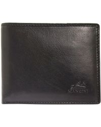 Mancini Boulder Collection Rfid Secure Wallet With Removable Passcase And Coin Pocket - Black
