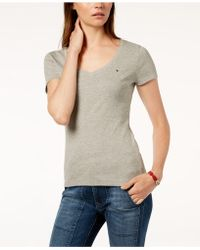 Tommy Hilfiger - V-neck T-shirt, Created For Macy's - Lyst