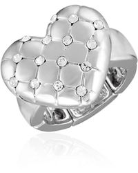 T Tahari Heart Stretch Ring - Metallic
