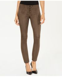 Hue - ® Lace-up Microsuede Skimmer Leggings - Lyst