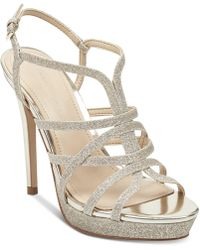 Marc Fisher - Jaslyn Caged Platform Dress Sandals - Lyst