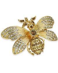 Charter Club Gold-tone Crystal Bee Pin, Created For Macy's - Metallic