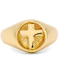 Robert Lee Morris Cross Signet Ring - Metallic