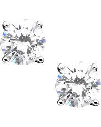 Giani Bernini - Sterling Silver Cubic Zirconia Stud Earrings (2 Ct. T.w.) - Lyst