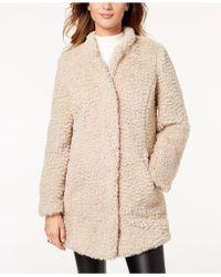 Kenneth Cole Faux-fur Coat - White
