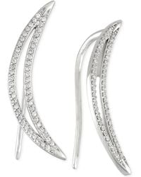 Wrapped in Love - Diamond Ear Crawlers (1/5 Ct. T.w.) In 14k White Gold - Lyst