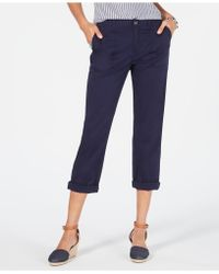 Style & Co. Petite Utility Pocket Capri Pants, Created For Macy's - Blue