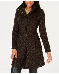 Via Spiga - Leopard-print Coat - Lyst