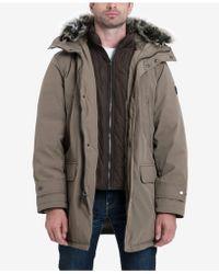 Michael Kors - Men's Hooded Bib Snorkel Coat - Lyst