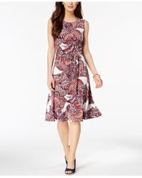 Charter Club - Printed Fit & Flare Dress, Created For Macy's - Lyst