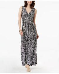 Charter Club - Printed Maxi Dress, Created For Macy's - Lyst
