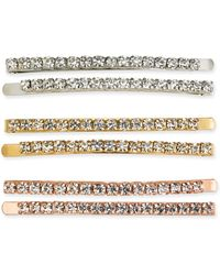 INC International Concepts Inc Tri-tone 6-pc. Set Crystal Bobby Pins, Created For Macy's - Multicolor