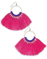 INC International Concepts - I.n.c. Gold-tone Colored Bead & Tassel Drop Earrings, Created For Macy's - Lyst