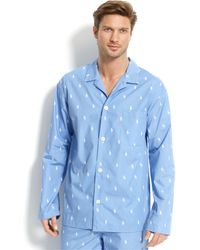 Polo Ralph Lauren - All Over Pony Player Pajama Top - Lyst