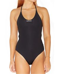 Hurley Juniors' One And Only Tie-back One-piece Swimsuit - Black