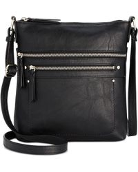 INC International Concepts Riverton Medium Crossbody, Created For Macy's - Black