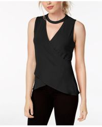 RACHEL Rachel Roy - Cross-front Keyhole Top, Created For Macy's - Lyst