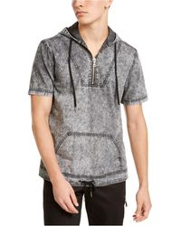 INC International Concepts Ansel Short Sleeve Hoodie, Created For Macy's - Gray