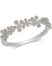 Charter Club - Silver-tone Crystal Flower Bangle Bracelet, Created For Macy's - Lyst