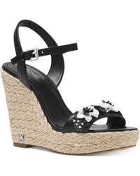 Michael Kors | Michael Jill Espadrile Wedge Sandals | Lyst