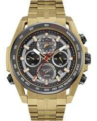 2d426484e5c Bulova - Men s Chronograph Precisionist Gold-tone Stainless Steel Bracelet  Watch 43mm 98b271 - Lyst