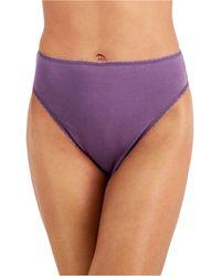 Charter Club High-cut Brief Underwear, Created For Macy's - Purple