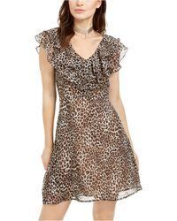 19 Cooper Animal-print Ruffled A-line Dress - Multicolour