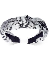INC International Concepts Inc Snake-print Knotted Fabric Headband, Created For Macy's - Gray