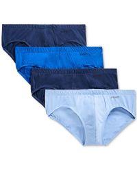2xist 2(x)ist Cotton Bikini Briefs - Pack Of 4 - Blue