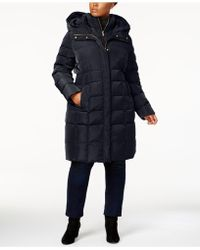 Cole Haan - Signature Plus Size Layered Down Puffer Coat - Lyst