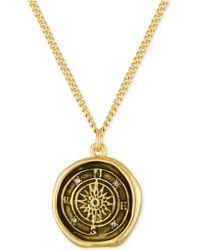 RACHEL Rachel Roy - Gold-tone Compass Pendant Necklace - Lyst