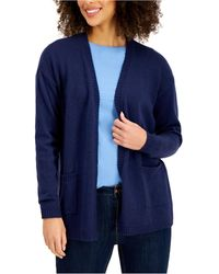 Style & Co. Open-front Cardigan, Created For Macy's - Blue