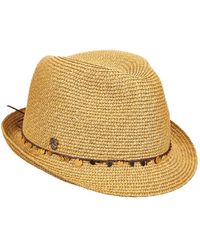 Tommy Bahama Sequin Accent Cord Fedora - Multicolor